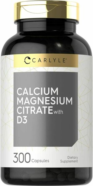 Calcium Magnesium Citrate With Vitamin D3 300 Capsules by Carlyle $15.99