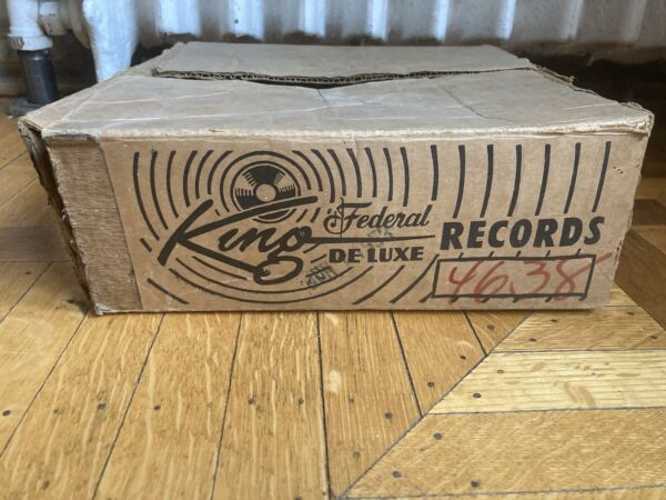 1950#x27;S Rare King Federal Records Vintage 10 inch 78 RPM Record Shipping Box
