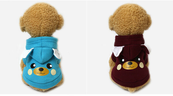 Pet Dog Clothes Cat Puppy Coat Warm Hooded Cute Bear Sweater Jacket Clothing $8.99