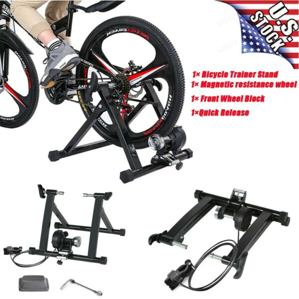 Magnetic Resistance Bicycle Training Rack Parking Rack Fitness Stationary Stand $83.88