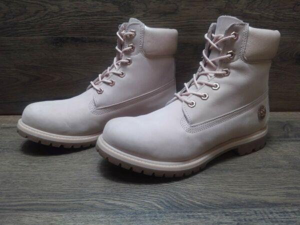Timberland Pink Leather Women#x27;s Boots 200 Grams Primaloft Size 10 LOW PRICE $100.00