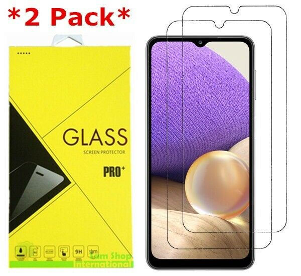 2 Pack Premium Real Tempered Glass Screen Protector for SAMSUNG Galaxy A32 5G
