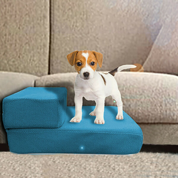 Soft Pet Stairs amp; Ramp Cat Step Bed Ladder Dog Stair Sofa Blue $19.98