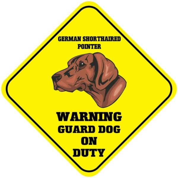 Crossing Sign German Shorthaired Pointer Warning Guard Dog Duty Cross Xing Metal $17.99