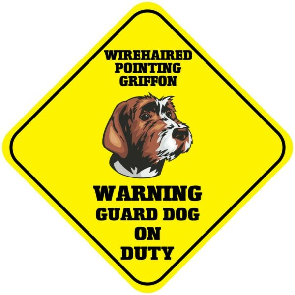 Crossing Sign Wirehaired Pointing Griffon Warning Guard Dog Duty Xing Metal $17.99