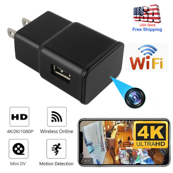 Mini USB Wall Charger Recorder Motion Camera HD 1080P WiFi Power Adapter $27.77