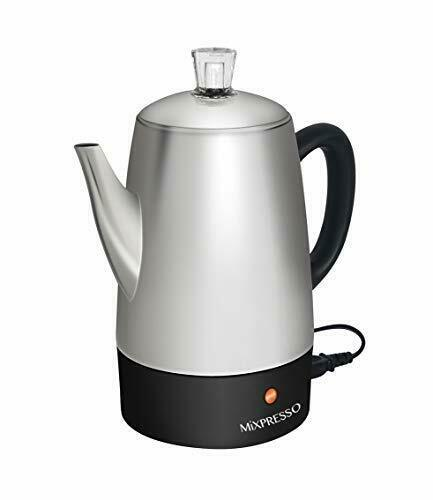 Mixpresso Electric Coffee Percolator Stainless Steel Coffee Maker Percolat..
