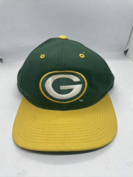 Vintage Green Bay Packers Logo Embroidered Ani Snapback Hat Cap