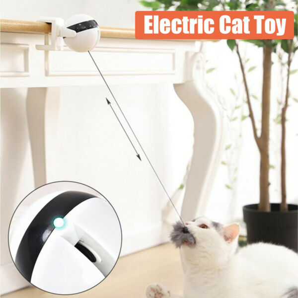 Electric Automatic Lifting Cat Ball Interactive Toy Smart Pet Cat Ball Teaser $13.19