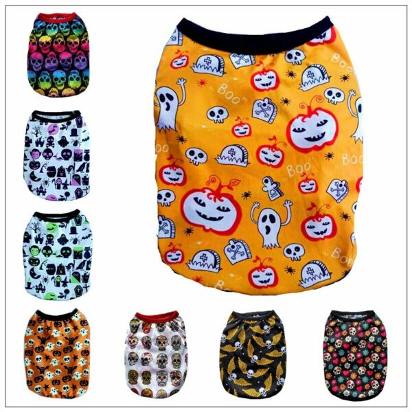 Yorkie Cute Skull Dog Clothes Pet Puppy Hooded Dog Cat Apparel Colors XXS 5XL $5.99