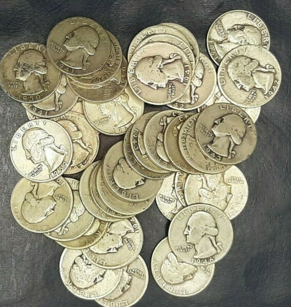 1 EACH WASHINGTON QUARTERS GOOD OR BETTER 90% SILVER 1932 TO 1964