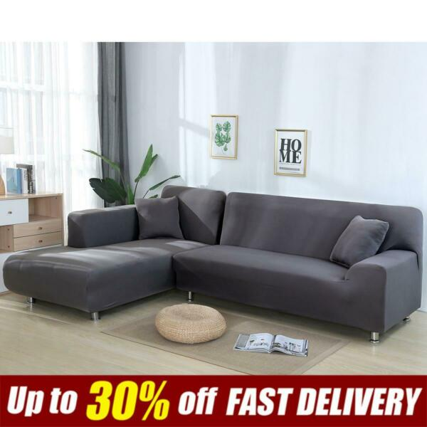 Stretch L Shaped Sofa Slipcovers Sectional Couch Corner L Sofa Covers Home Decor