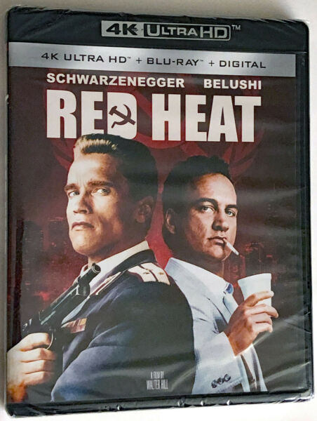 Red Heat 4K Ultra HD Blu Ray New and Factory Sealed. No Slipcover $18.95