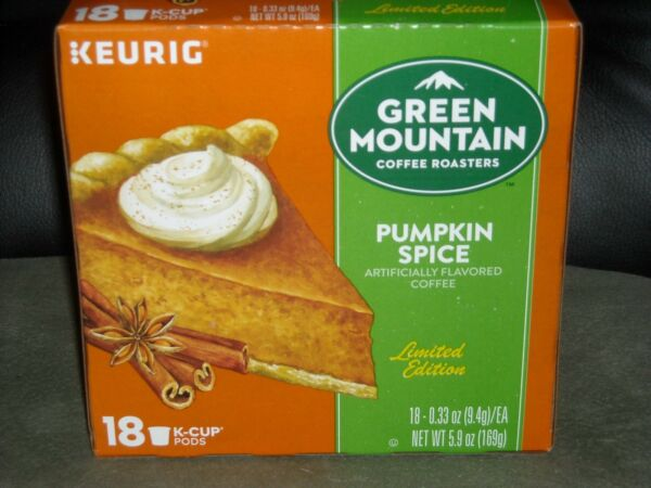 Keurig Green Mountain coffee Pumpkin Spice Limited Ed 18 ct. K Cup Pods SALE