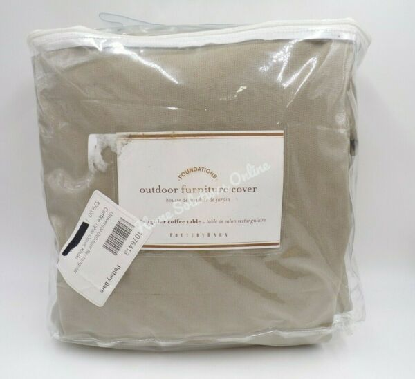 Pottery Barn Universal Outdoor Rectangular Coffee Table Cover Khaki #8711C $55.30