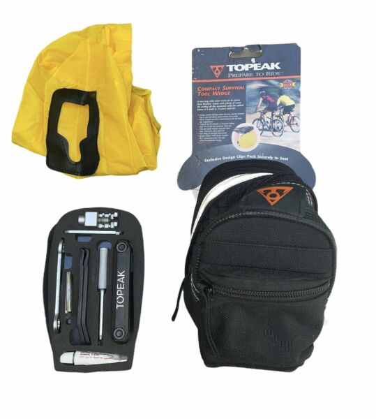 Topeak Bike Compact Survival Tool Wedge Pack Kit w Quick Click Fixer 16 Tools $34.39