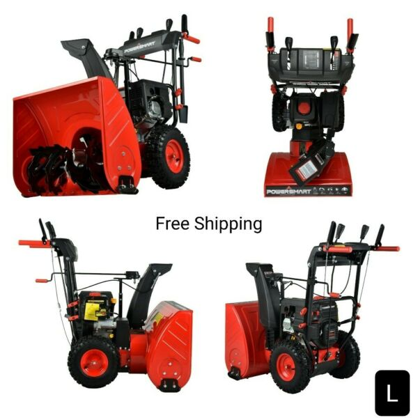 New PSSW24 24 in. 212cc Engine 2 Stage Electric Start Gas Snow Blower. New