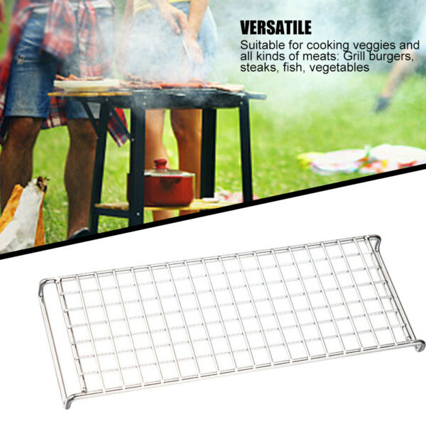 2pcs Portable Outdoor Camping Grill Grate Travel Kitchen For Fire Easy Clean New