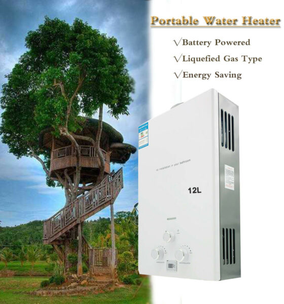 Portable Battery Powered Water Heater Liquid Propane Gas Instant Water Heater $119.10