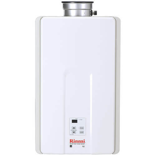 Rinnai V65IN 6.5 GPM Residential Indoor Natural Gas Tankless Water Heater with 1