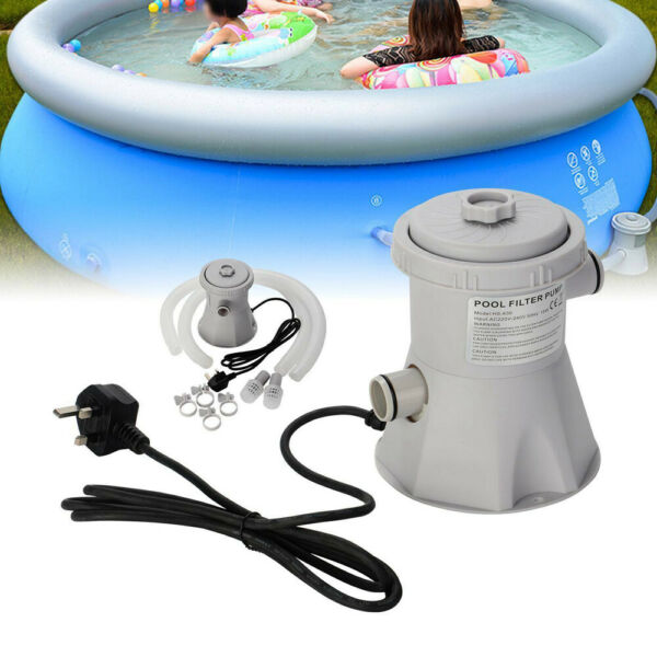 Electric Swimming Pool Filter Pump Powerful Water Cleaning System Above WM $39.99