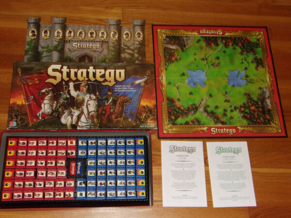 1996 Milton Bradley Stratego The Classic Battleship Strategy Board Game Complete