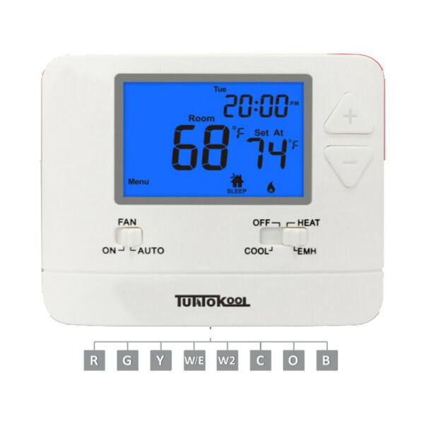 Tuttokool TK 721 Digital Non Programmable Heat Pump Thermostat for Home 2H 1C $47.99