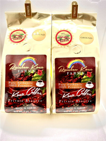 Kona coffee Ground7oz Private Reserve Pure Authentic 100% Premium Made In Hawaii