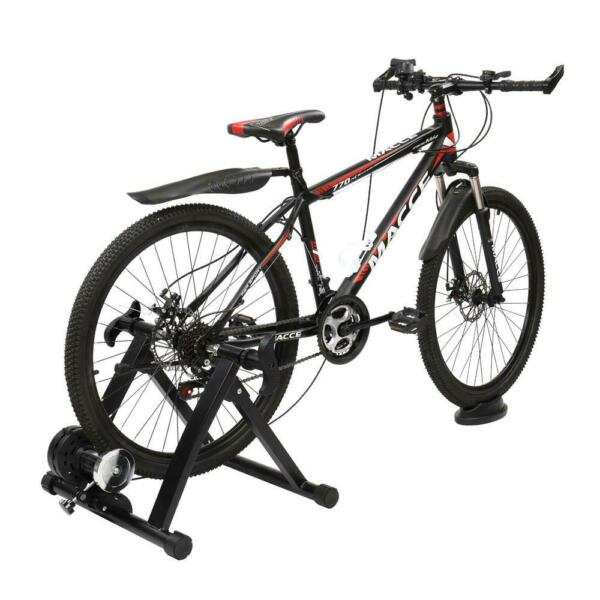 Magnetic Bike Bicycle Trainer Indoor Stationary Exercise Stand Steel Frame Black $59.99