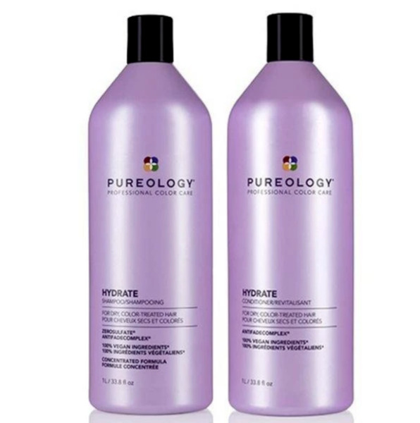Pureology Hydrate Shampoo and Conditioner Liter Duo Set 33.8oz each $23.64