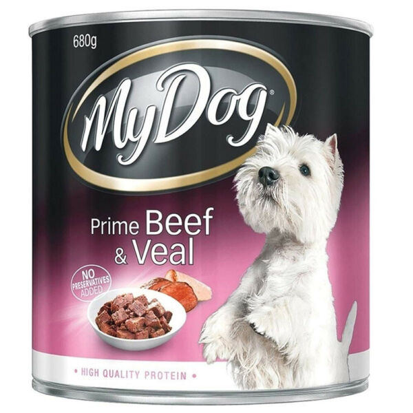 MY DOG PRIME BEEF amp; VEAL 680g PUPPY WET CAN FOOD SNACKS HEALTHY MEAL TREATS AU $12.60