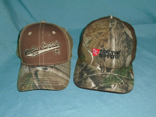 Lot of 2 Tractor Supply Camo Hat Caps New WOT Farming Work Hats $16.99