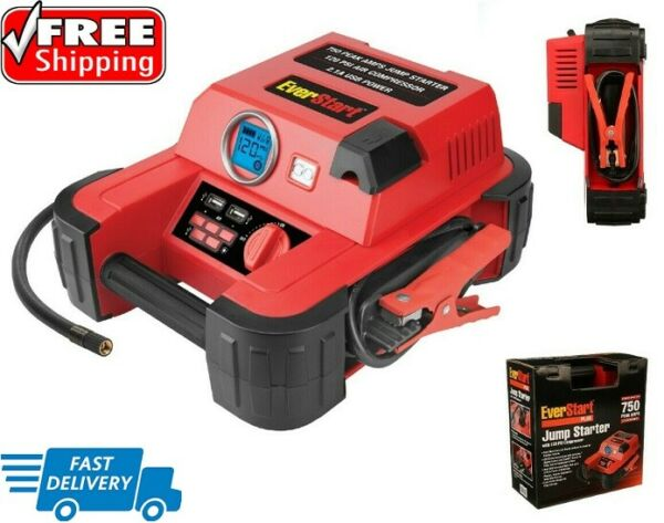 Auto Battery Jump Starter Air Compressor 750 Peak Amps Portable Car SUV Charger. $46.79