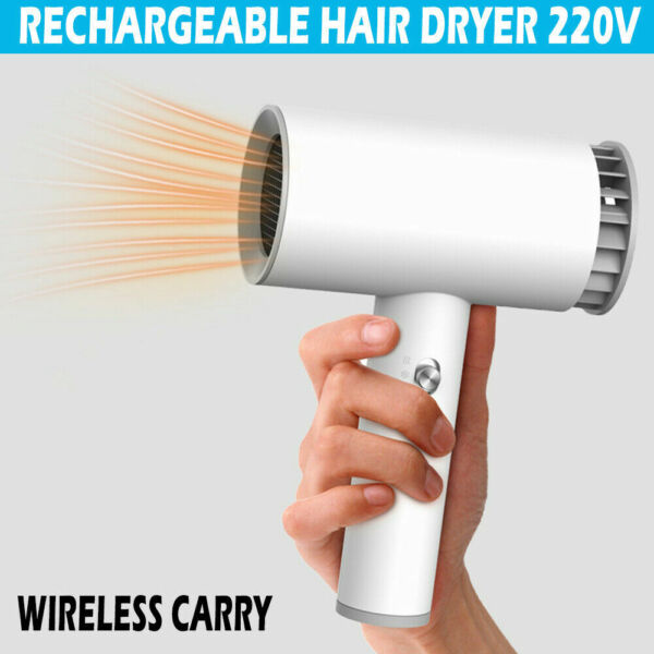 1250W Hot Professional Wireless Hair Dryer Smart Cordless Rechargeable Blower