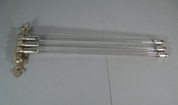 Antique Towel Rack Wall Swivel Style Art Deco Brass Chrome And Glass $122.25