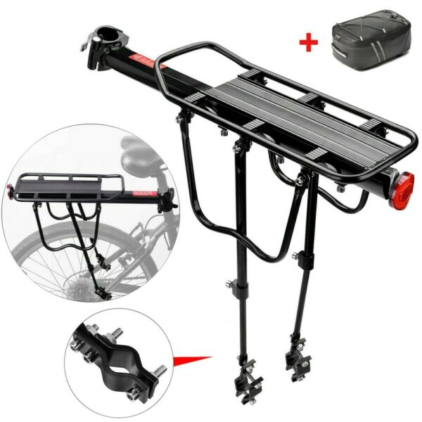 Rear Bike Rack Quick Release Bicycle Pannier Luggage Alloy Carrier Holder Bag $13.68