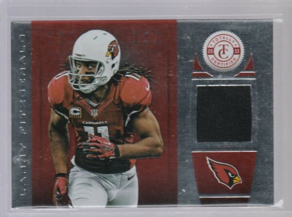 LARRY FITZGERALD 2013 TOTALLY CERTIFIED RED MATERIAL JERSEY# 197 299 CARDINALS $50.00
