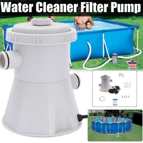 Electric Swimming Pool Water Cleaning Tool Above Ground Pool Filter Pump NEW US $39.59