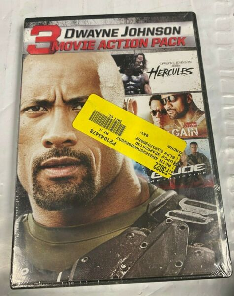 💢 New Dwayne Johnson 3 Movie Action Pack DVD Free Shipping