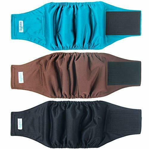 Male Dog Diapers 3 Pack High Absorbing Dog Belly Bands for Male DogsWashable $9.71