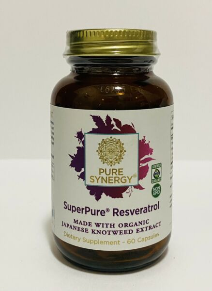 Pure Synergy Super Pure RESVERATROL Organic Extract 60 Caps New amp; Sealed 10 2023