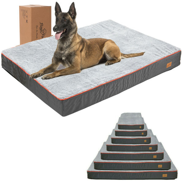 Gaint Dog Bed Large Orthopedic Foam Waterproof XL Pet Crate Bed Removable Cover $79.92
