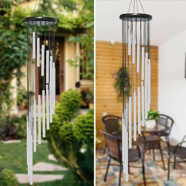 36quot; Large Tuned Wind Chimes 18 Tubes Memorial Chapel Bells Balcony Garden Decor $12.87