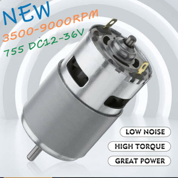 775 DC Motor Ball Bearing 12 36V 3500 9000RPM Large Torque Power Low Noise P7Q1 $12.45