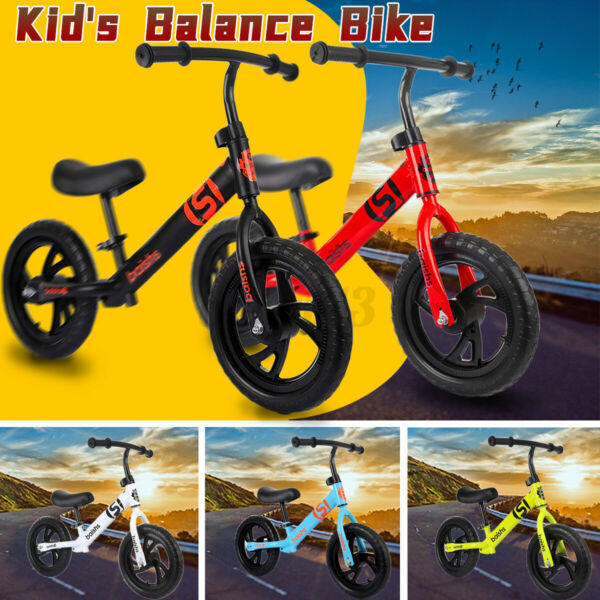 ✅Balance Bike For Toddlers Kids 3 6years Adjustable Seat Height Bicycle Ride US $33.79