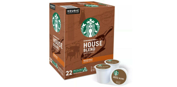 Keurig Starbucks House Blend Coffee 66 K Cups Pods New 3 boxes of 22