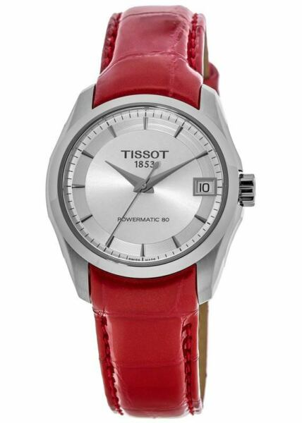 New Tissot Couturier Automatic Silver Dial Women#x27;s Watch T035.207.16.031.01 $186.00