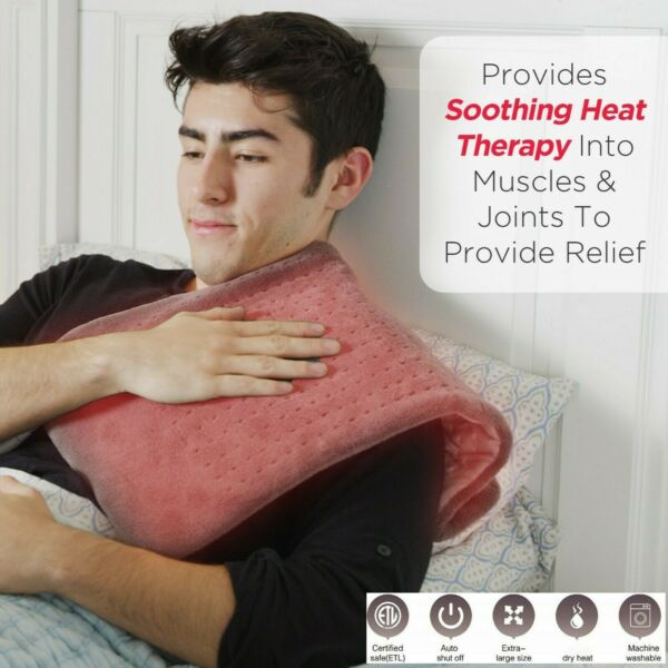 XL Electric Heating Pads for Back Neck Heating Pad Fast Pain Relief 12quot;x24quot; $21.99