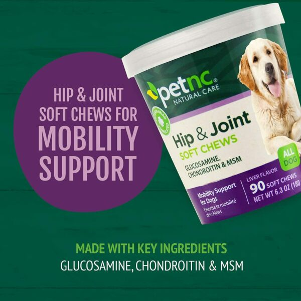 PetNC Natural Care Hip and Joint Soft Chews for Dogs 90 Count $9.99