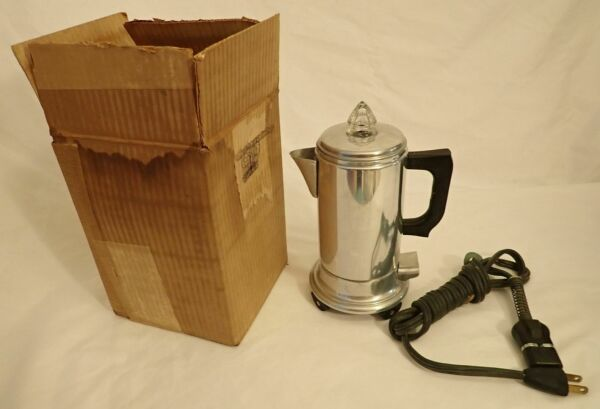 Vintage New Unused Empire 2 Cup Electric Coffee Percolator Instructions amp; Cord